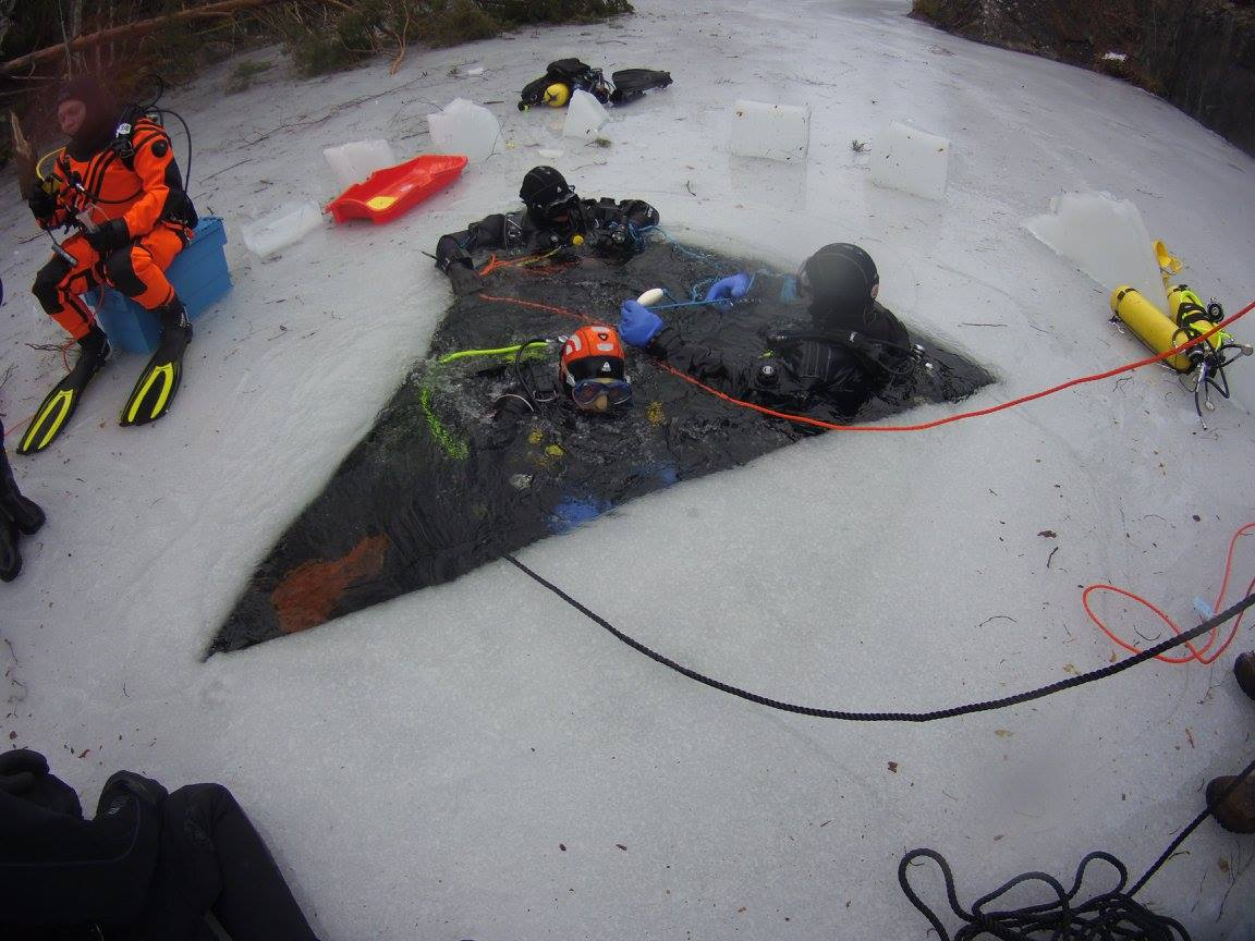 Isdykningskurs med Dykhuset